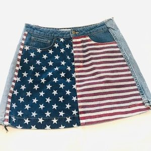 AMERICAN APPAREL JEANS FLAG USA denim XS